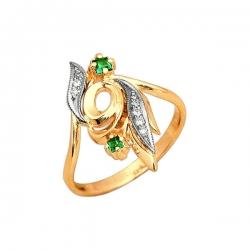 Кольцо из золота 585 пробы с алпанитом и фианитами