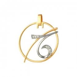 Подвеска знак зодиака Козерог из золота с фианитами