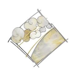 Эксклюзивная подвеска из комбинированного золота с перламутром