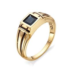 Мужское кольцо с квадратным сапфиром