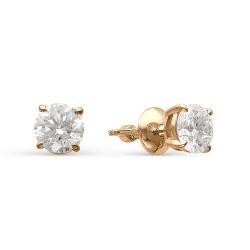 Гвоздики из золота с большими бриллиантами