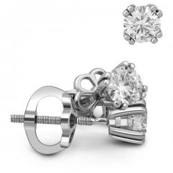 Серьги пусеты из золота с бриллиантами