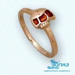 Детское золотое кольцо Рыбка с эмалью