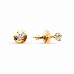 Серьги гвоздики из золота с бриллиантами