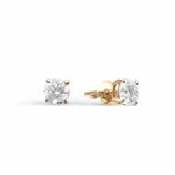 Золотые гвоздики с крупными бриллиантами