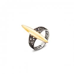 Кольцо из желтого золота (без вставок)