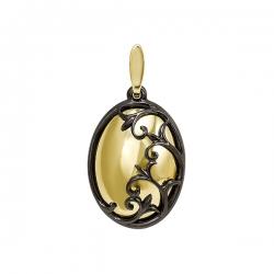 Подвеска из желтого золота (без вставок, черный родий)
