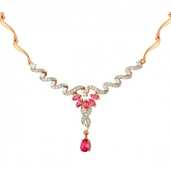 Золотое колье с рубином и бриллиантами