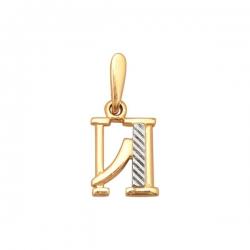 Золотая подвеска (без вставок с алмазной гранью)