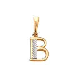 Подвеска золотая буква В