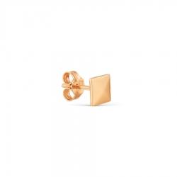 Т100028018 золотая одиночная серьга без камней