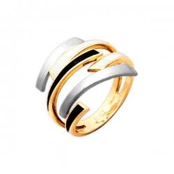 Кольцо из золота 585 пробы с эмалью