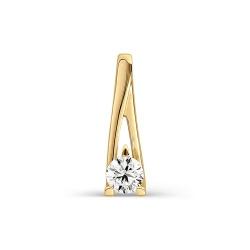 Золотая подвеска с одним бриллиантом