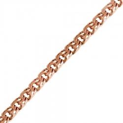 Мужская золотая цепочка плетения Бисмарк без замка