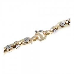 Т-12540 крупная мужская золотая цепочка