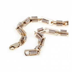 Т-12550 мужская золотая цепочка