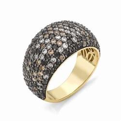 Кольцо из желтого золота с бриллиантами