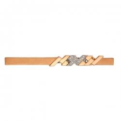 Зажим для галстука из золота 585 пробы с фианитами