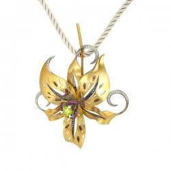 Золотая брошь «Лолита»