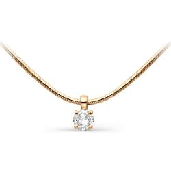 Золотое колье с одним бриллиантом
