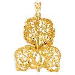 Подвеска Листья из желтого золота