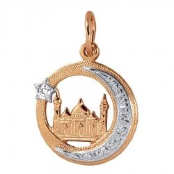 Мусульманская золотая подвеска с бриллиантом