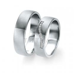 Т-28778 золотые парные обручальные кольца (ширина 6 мм.) (цена за пару)