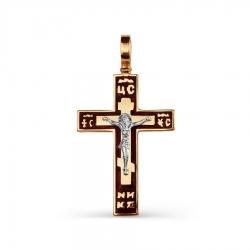 Золотой крестик с эмалью