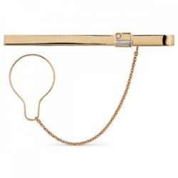 Золотой зажим для галстука с бриллиантом