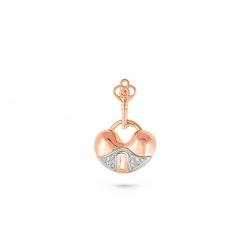 Золотая подвеска Замочек c бриллиантом