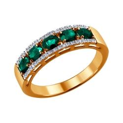Кольцо из золота с изумрудом SOKOLOV