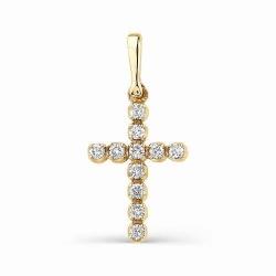 Маленький крестик из золота с бриллиантами