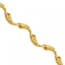 Браслет из желтого золота