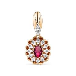 Подвеска из золота с рубином и бриллиантом