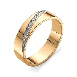 Обручальное кольцо с бриллиантами 17 граней