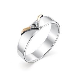 Серебряное кольцо c бриллиантами