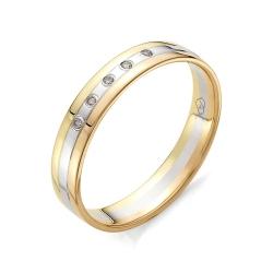 Обручальное кольцо из трехцветного золота