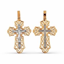 Мужской золотой крестик