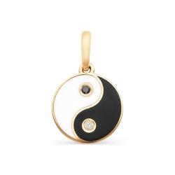 Золотая подвеска «Инь Янь» с одним бриллиантом