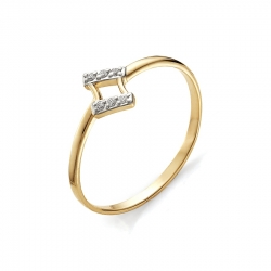 Детское золотое кольцо с фианитами