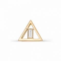 Золотая подвеска в форме треугольника (Бирюза)