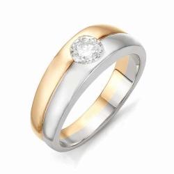 Мужское кольцо с большим бриллиантом