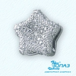 Подвеска Звезда из белого золота с бриллиантами