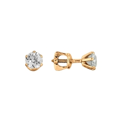 Серьги гвоздики с большими бриллиантами