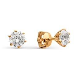 Серьги гвоздики с огромными бриллиантами
