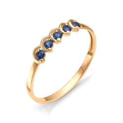 Женское золотое кольцо с сапфиром