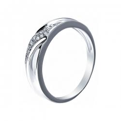 Кольцо из серебра 925 пробы с бриллиантами