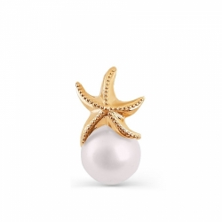 Золотая подвеска Море с белым жемчугом