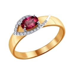 Кольцо из комбинированного золота с рубином SOKOLOV