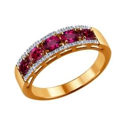 Кольцо из золота с рубином SOKOLOV